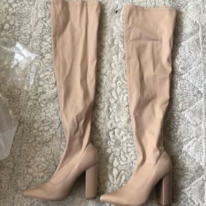 Like over the knew boots nude